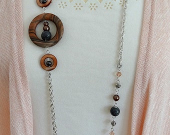 Long Beaded Necklace, Long Necklace, Beaded Necklace, Boho Necklace, Flapper Necklace, Long Bohemian Necklace, Long Vintage Necklace