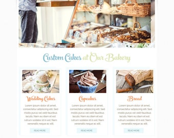 Premade Wix Website • Cake Bakery Theme