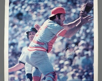 1978 Johnny Bench Cincinnati Reds Baseball MLB Poster 23 x 35