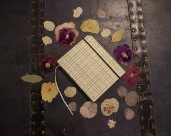 Plant Press Book / Sage Green Handmade Book / Flower Pressing / Silk Paper Wrapped Cover / Handmade Coptic / Plant Gathering /