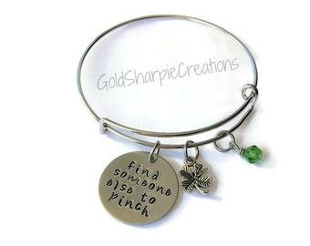 St. Patrick's Day Bracelet - St. Patrick's Day - Green Jewelry - Clover Bracelet - Irish Jewelry - Charm Bracelet - Four Leaf Clover