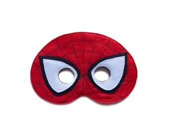 Spiderman Felt Mask, The Amazing Spiderman mask, children Spiderman mask, Superhero costume, Adult Spiderman accessory, party favor
