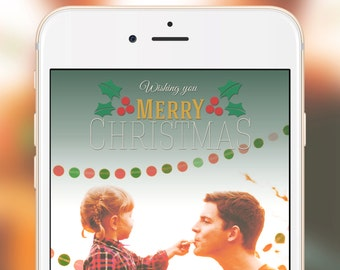 Snapchat Geofilter Christmas - Holiday Filter, Merry Christmas family snapchat