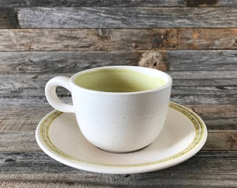 Set of 3 Vintage Franciscan Hacienda Green Cup and Saucer Sets, Franciscan Hacienda