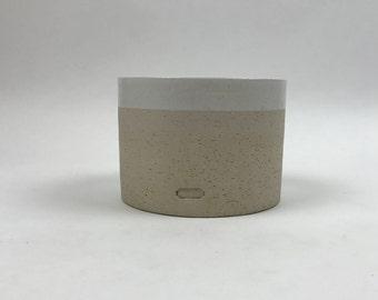 Jonathan Adler for Coach Rare Vintage White Glazed Interior Round Ceramic Pot