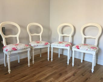 Upcycled Vintage Dining Room Chairs -Set of 4