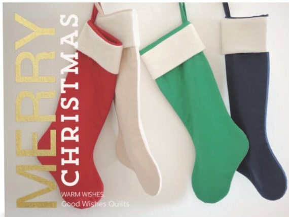 Modern Christmas Stocking Personalized, Family Christmas Stocking Red, Traditional Big Large Boy Girl Holiday Sock Decoration Decor, Classic