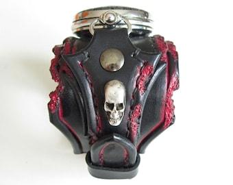 Rocker Watch, Gothic Watch, Skull Pocket Watch, Wrist Watch