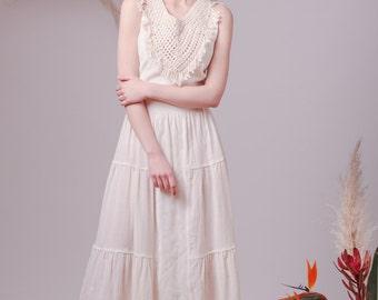 Bohemian wedding dress,Hippie wedding dress,Alternative wedding dress,Peasant wedding dress,Beach wedding dress,Fairy wedding dress