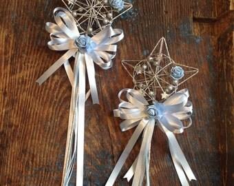 Wedding flowergirl star wands