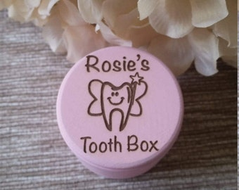 Engraved Tooth Fairy Box, Tooth Box, Personalized Tooth Box, Tooth Fairy Pillow, Keepsake Box, Lost Tooth, Wood Tooth Box, First Tooth