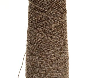 SAORI Yarn on Cone - Dark Brown Heathered Wool - Weaving Arts Austin