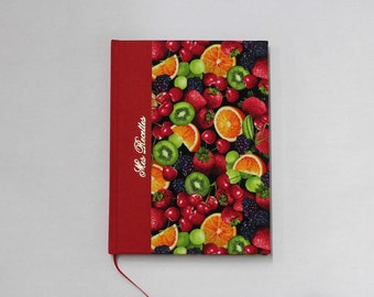 Recipe book, for your favorite recipes, handmade, cookery book paged with table of contents, write your recipes