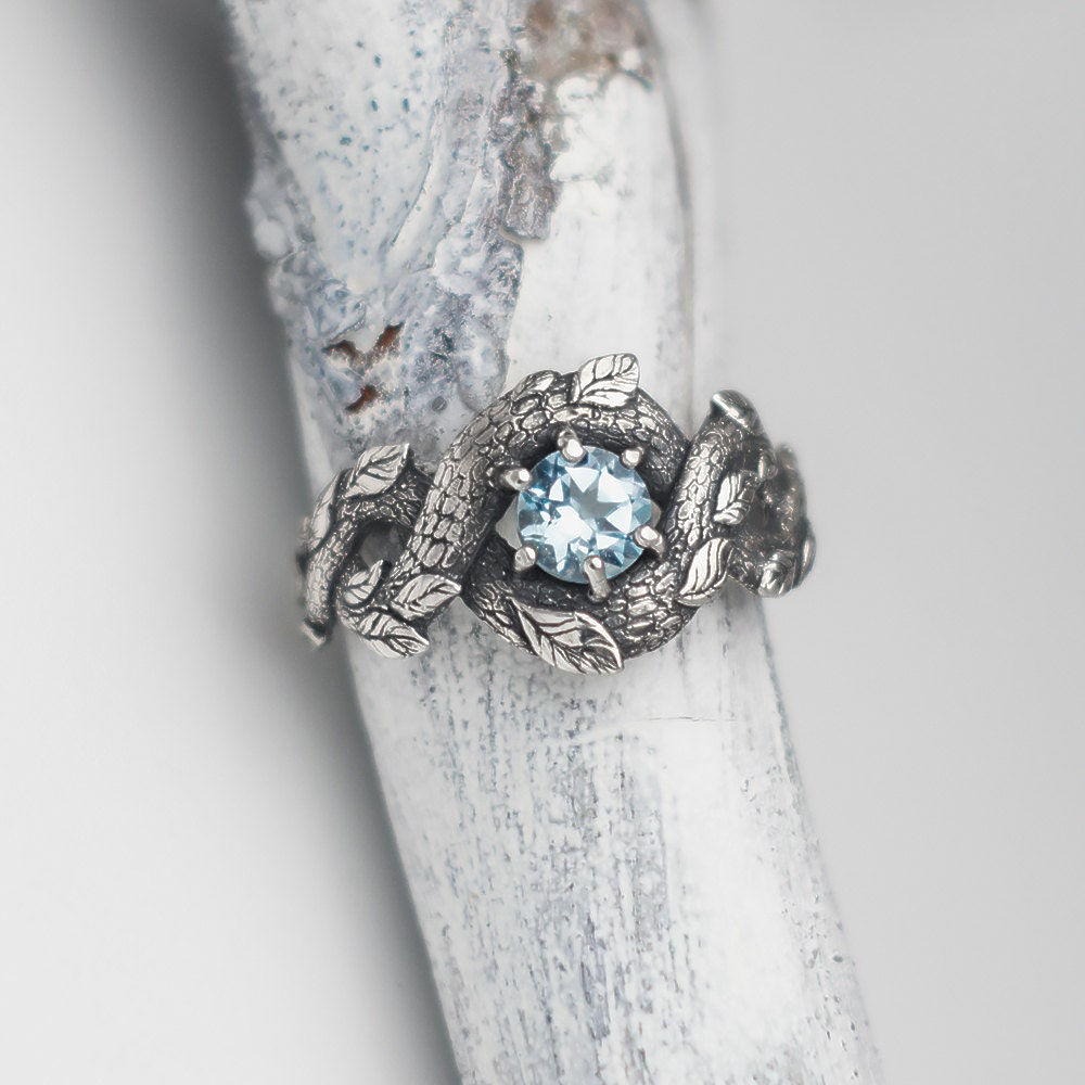 nature wedding rings blue ring nature inspired engagement ring wedding 6099