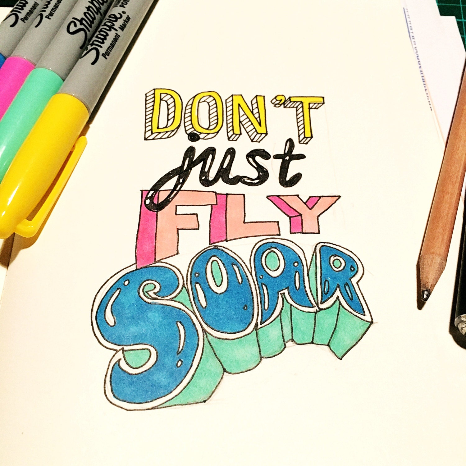 Dont just fly soar colour