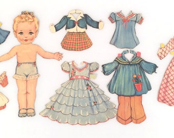 Vintage paper dolls:  Clothes Make a Lady produced in 1942 by Lowe Publishing