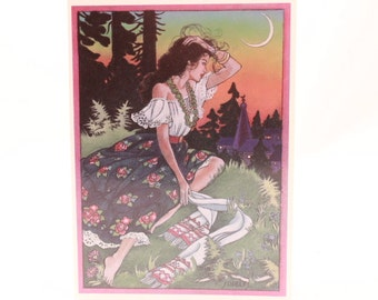 Greeting Card by Schields. 1 Card and 1 Envelope Included. A Gypsy Scout