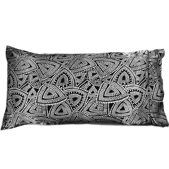 Satin Pillowcase King Size. Black And White. Get Healthy