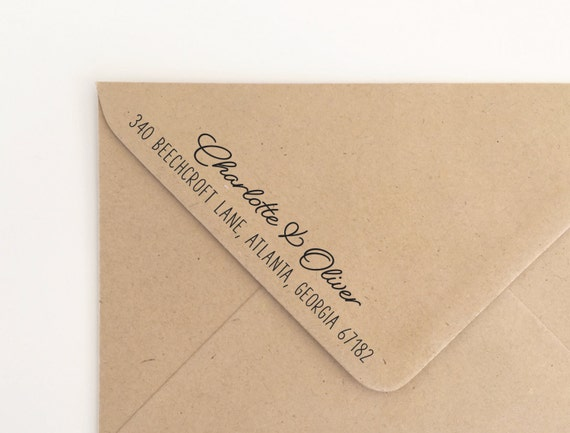 Personalized Rubber Stamps For Wedding Invitations: Return Address Stamp, Custom Rubber Stamp, Wedding