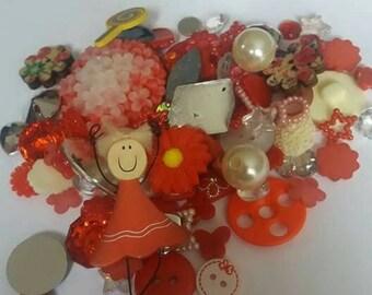 Red girl  Decoden / embellishment bundle