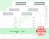 "A5 Savings Jar Tracker DIY Planner Halfsize Classic Organizer 5.5"" x 8.5"" Instant Download"