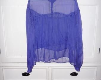 Silk blouse size 38 en - 1980s