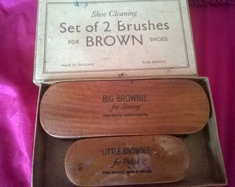 Vintage shoe brushes by browns