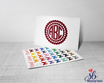 Circle Monogram (3) Vinyl Decal