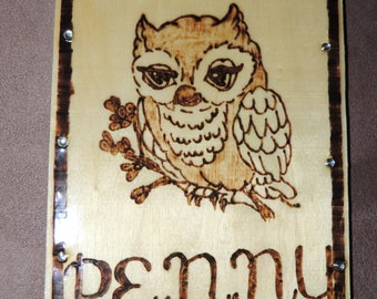 Personalized Owl Sign