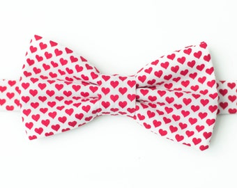 valentine bow tie heart pattern bow ties white with pink hearts love bow