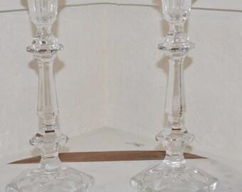 Vintage Glass Candlesticks. Vintage Crystal. Art Deco