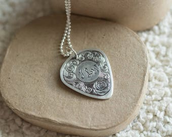 Hand Engraved Sterling Silver Personalized Pendant