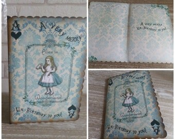 1 Alice in Wonderland Birthday Card - A Very Merry Un-Birthday Card