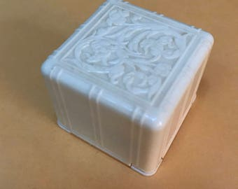 Vintage embossed ring box