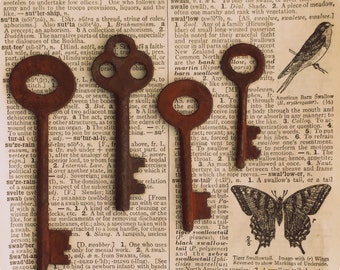 REAL Antique Vintage Iron Skeleton Keys From Deadwood South Dakota