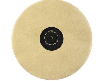 """White Muslin Unstitched Buff 5"""" x 50 Folds Jewelry Making Rotary Metal Finishing Polishing Tool - POL-0102"""