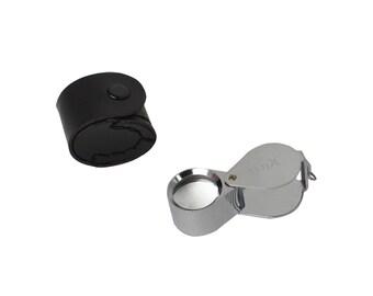 21.5 MM - 10X Diamond Cut Silver Eye Loupe Jewelry Making Metal Gemstone Inspection Magnifier Tool