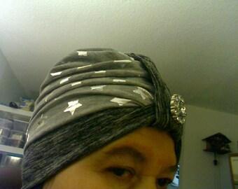 Sewed Many Stars Turban 2 colors