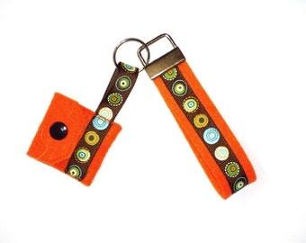 Key band with chip bag, orange