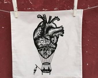 anatomical heart Cushion Cover,  Decorative Pillow, heart pillow, hot air balloon pillow, home decor, vintage cushion cover, pillow cover