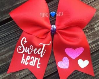 Swet heart cheer bow