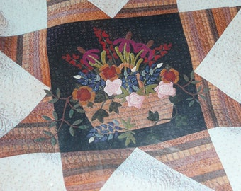 Buttons & Bees Wildflower Wallhanging Quilt Pattern