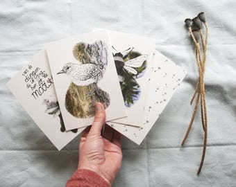 Create your own set of 4 cards