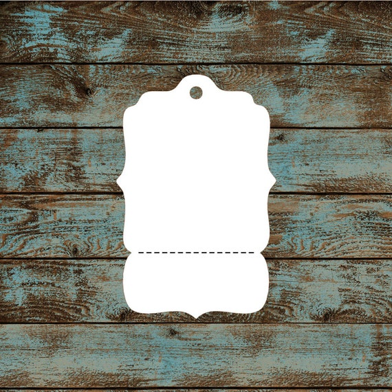 Blank Price Tags - Victorian Hang Tags Perforated Custom #633 - Quantity: 40 Tags