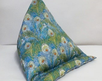Tablet bean bag stand. ipad, kindle, tablet. Liberty of London  Hera cotton fabric. 2 size options.