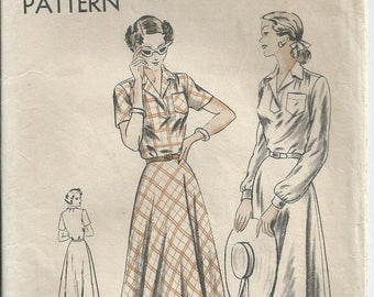 Shirt Waist Dress - Vogue Pattern 6380 - 1948