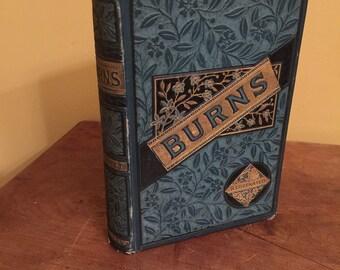 Antique Robert Burns Illustrated Book/Robert Burns Poetry/Antique Poetry Book