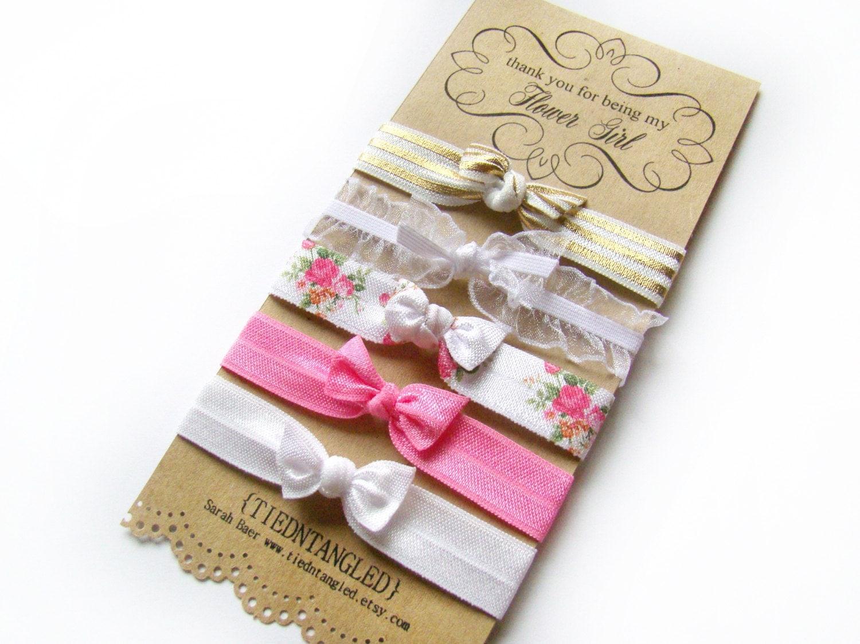 Flower Girl Gift FOE Hair Tie Set Flower Girls Bridesmaid