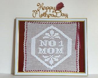 Mother's Day Gift, Gift For Mom, No. 1 Mom Crochet Quote, Birthday Gift For Mom, Mother's Day Present, Best Mom Gift