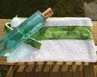 Summer Cosmetic Case, Towel Zipper Pouch, Beach Bag, Travel Toiletries Pouch, Swim Team Bag, Poolside Zipper Bag